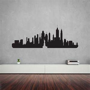 new york city skyline vinyl wall art decal vinyl revolution With vinyl wall decor