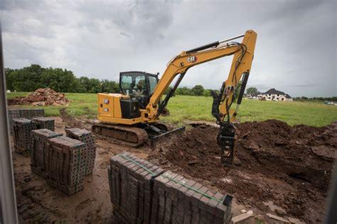 caterpillar launches   ton class cat  cr  generation mini hydraulic excavator rock