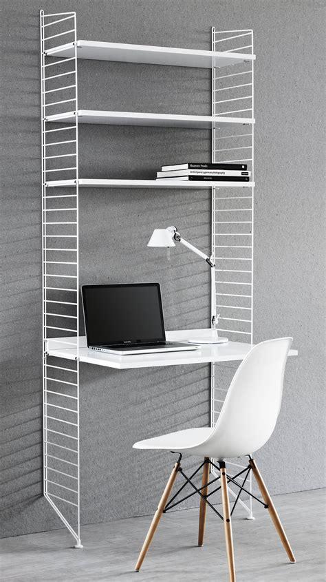 bureau string bureau string l 78 cm x h 200 cm blanc string furniture