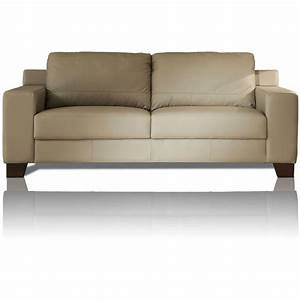 canape cuir ivoire 2 places vitoria mister canape With canape cuir ivoire