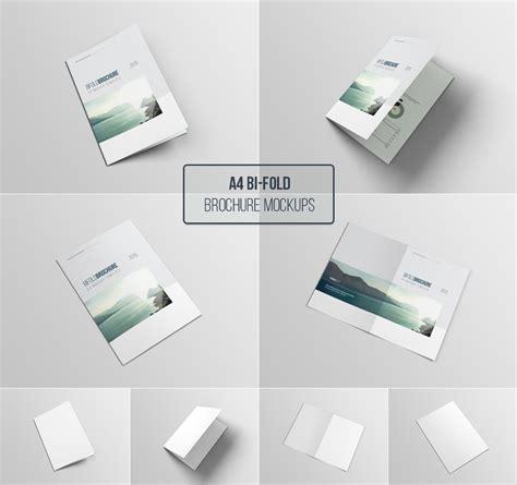 Brochure Mockup Template Free by A4 Bifold Brochure Mockup