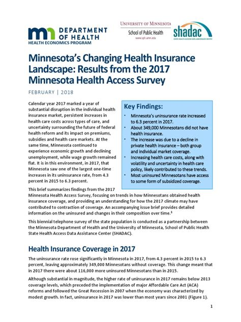 To shop for insurance, you will need to visit your local bcbs company. Minnesota's Changing Health Insurance Landscape: Results from the 2017 Minnesota Health Access ...