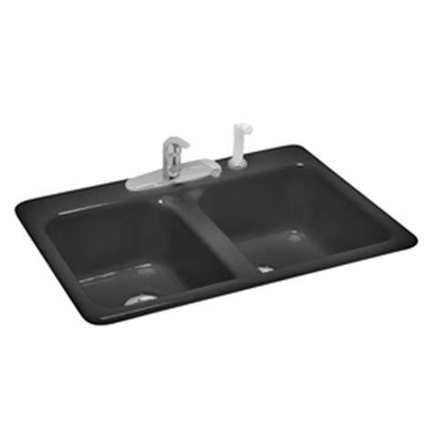 american standard cast iron kitchen sinks shop american standard black basin cast iron 9014