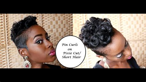 Pin Curls on Pixie Cut/ Short Hair YouTube