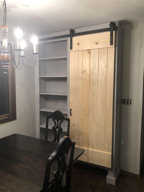 standing barn door cabinet ana white