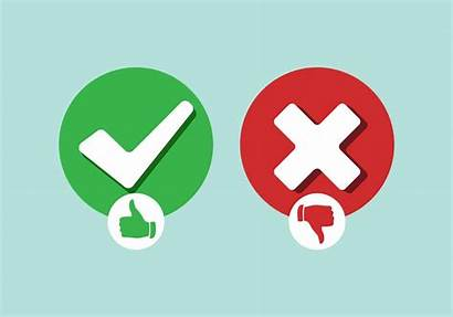 Wrong Right Vector Illustration Correct Symbol Icons