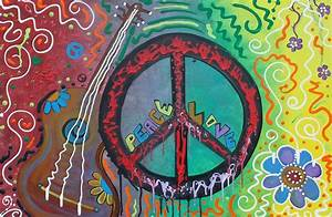 """""""Peace and Love Original Hippie Art"""" by Laura Barbosa ..."""