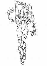 Ivy Poison Injustice Coloring Drawing Pinup Getdrawings Lines Template sketch template