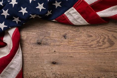 vintage american flag border stock photo image  plank