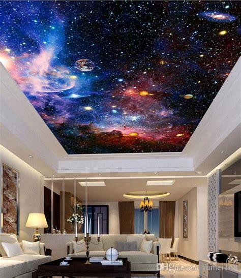 custom murals  star nebula night sky wall painting