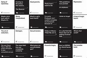 A Letter Of Complaint Letter Of Complaint Cards Against Humanity The New York