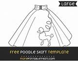 Poodle Skirt Template Templates Moreprintabletreats 50s Skirts Multiple Sizes Them Poddle sketch template