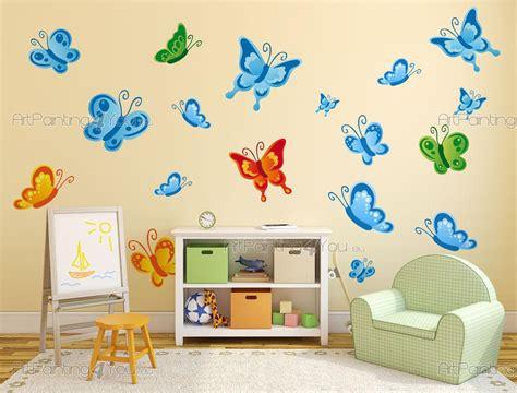stickers papillon chambre bebe stickers muraux chambre bébé papillons kit