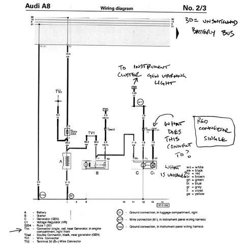Alternator Wiring Diagram 2001 Audi A6 by Quattroworld Forums D2 A8 S8 1997 2003