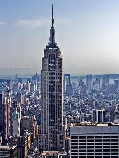 Empire State Building York Sull Torrido Caldo