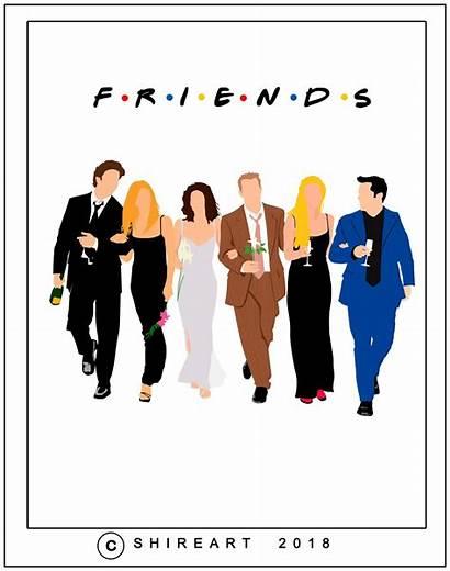Friends Poster Reunion Minimalist Quotes Aesthetic Friend