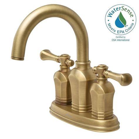 vintage bathroom sink faucets pegasus verdanza 4 in centerset 2 handle bathroom faucet