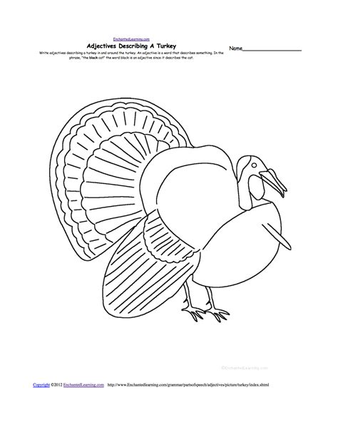 Turkey Template For Box Tops by Thanksgiving Writing Worksheets Enchantedlearning