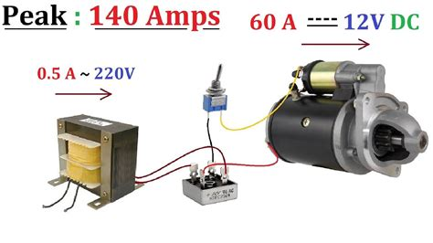Moto 220v by 12v 60a Dc From 220v Ac For High Current Dc Motor 1000w