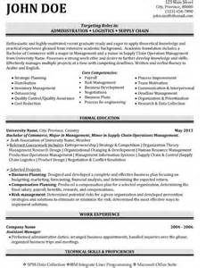 Logistics Supply Chain Resume Samples