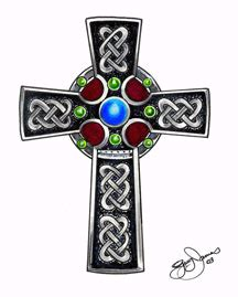 The celtic cross is like a traditional cross but with a ring around the intersection of the stem and arms. Celtic Cross Meaning