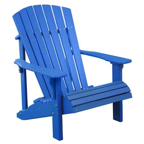 chair all blue deluxe adirondack furniture made in usa