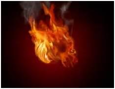Demon Skull Wallpaper Flaming Devil Color Id Skulls