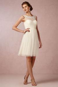 elegant short knee length a line cream tulle bridesmaid With short cream wedding dresses