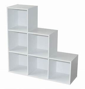 etagere escalier contemporaine 6 casiers coloris blanc With meuble 9 cases blanc 9 bibliothaque enfant rangements pour enfants vertbaudet