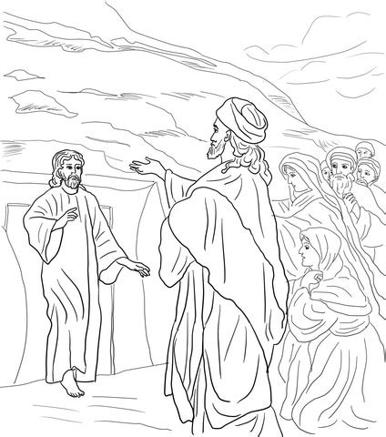 jesus raises lazarus   dead coloring page