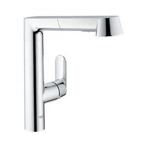 grohe kitchen faucets shop grohe k7 starlight chrome 1 handle pull out kitchen faucet at lowes com