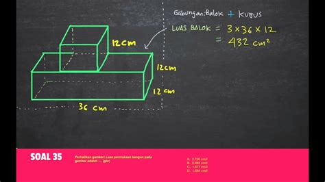 Rumus bangun ruang untuk semua bangun ruang adalah luas alas x tinggi, luas alas dapat bergantung pada bentuknya seperti persegi untuk kubus, panjang dan lebar untuk balok dan sebagainya. Contoh Soal Volume Gabungan Kubus Dan Balok - mode pemasaran