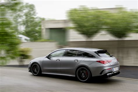 The exterior of the new cla 45. 2020 Mercedes-AMG CLA 45 Shooting Brake Hauls More Than ...