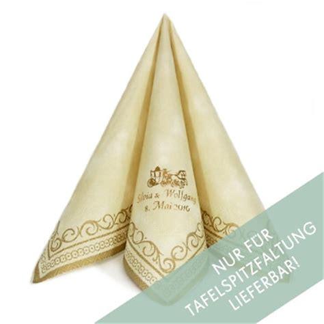serviette adagio creme gold personalisiert weddixde