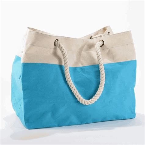 Embroidered Tote Bag embroidered color block tote bag