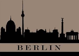 Berliner Online Shops : berlin stadt schattenbild postkarte postcardsisters postkarte online shop ~ Markanthonyermac.com Haus und Dekorationen