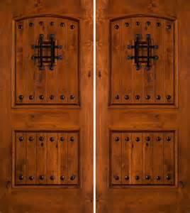Rustic Double Front Doors