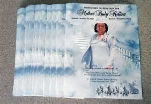 Funeral Memorial Service Program