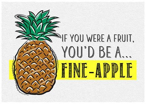 printable post cards  designs featuring funny fruit puns
