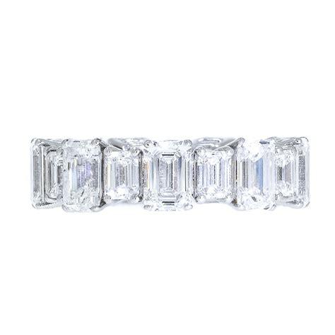 emerald cut diamond wedding band shapur mozaffarian san