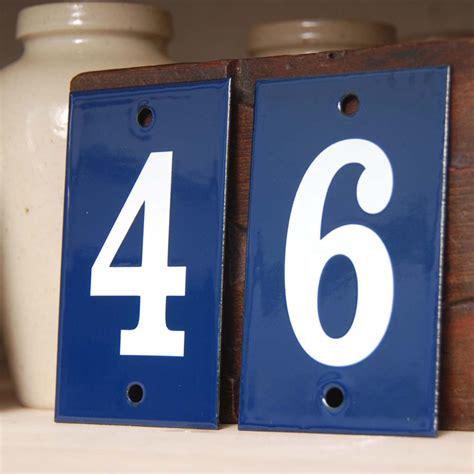 individual enamel house numbers