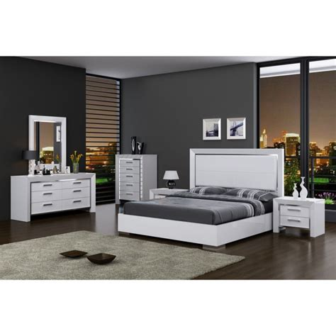 contemporary bedroom dressers ibiza modern bed whiteline in white or walnut 11200