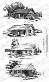 Cabin Clipart Printable Vector Copyright Illustrations Clip Coloring Woods Drawings Barn Log Webstockreview Cabins Drawing Digital Adult sketch template
