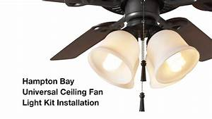 How to install the hampton bay light universal ceiling