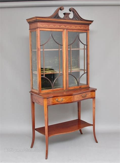 kitchen cabinets display 19th century mahogany and inlaid display cabinet 2972