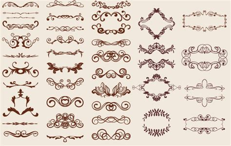 Wedding Decorations Catalogs Free by 250 Free Vintage Graphics Flourish Vector Ornaments