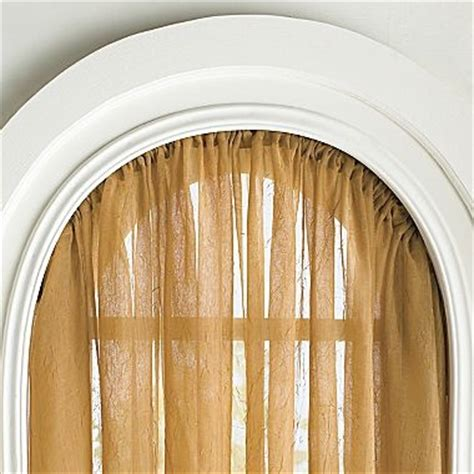 flexible curtain rod  arched windows kirsch arch rod