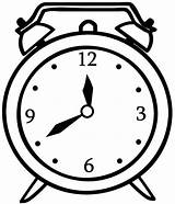 Clock Alarm Coloring Pages Sheet sketch template