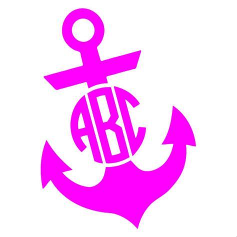 custom personalized initials circle monogram anchor vinyl decalsticker ebay