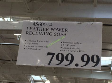 Costco  Leather Power Reclining  Ee  Sofa Ee   Tag